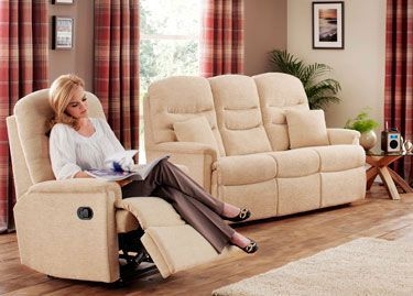 Celebrity Pembroke Recliner in Fabric 2
