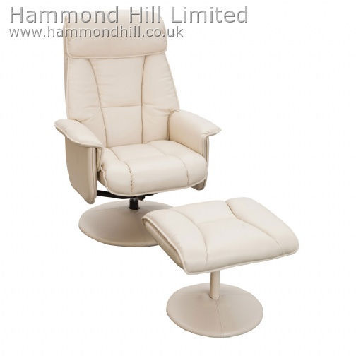 Relaxateeze Adesso swivel recliner & footstool