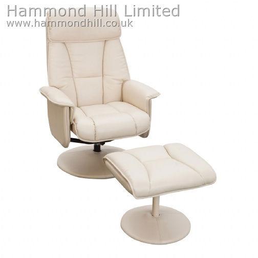 Relaxateeze Adesso swivel recliner & footstool