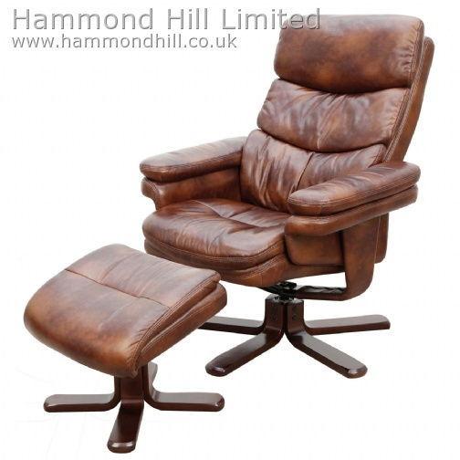 Relaxateeze Frascati swivel recliner & footstool