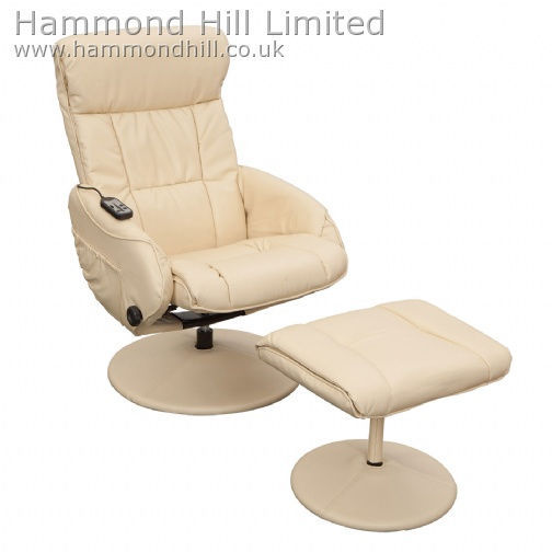 Relaxateeze Venice swivel Massage recliner & footstool
